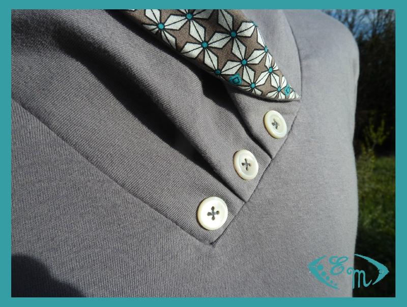 sous pull jersey homme patron couture col plis