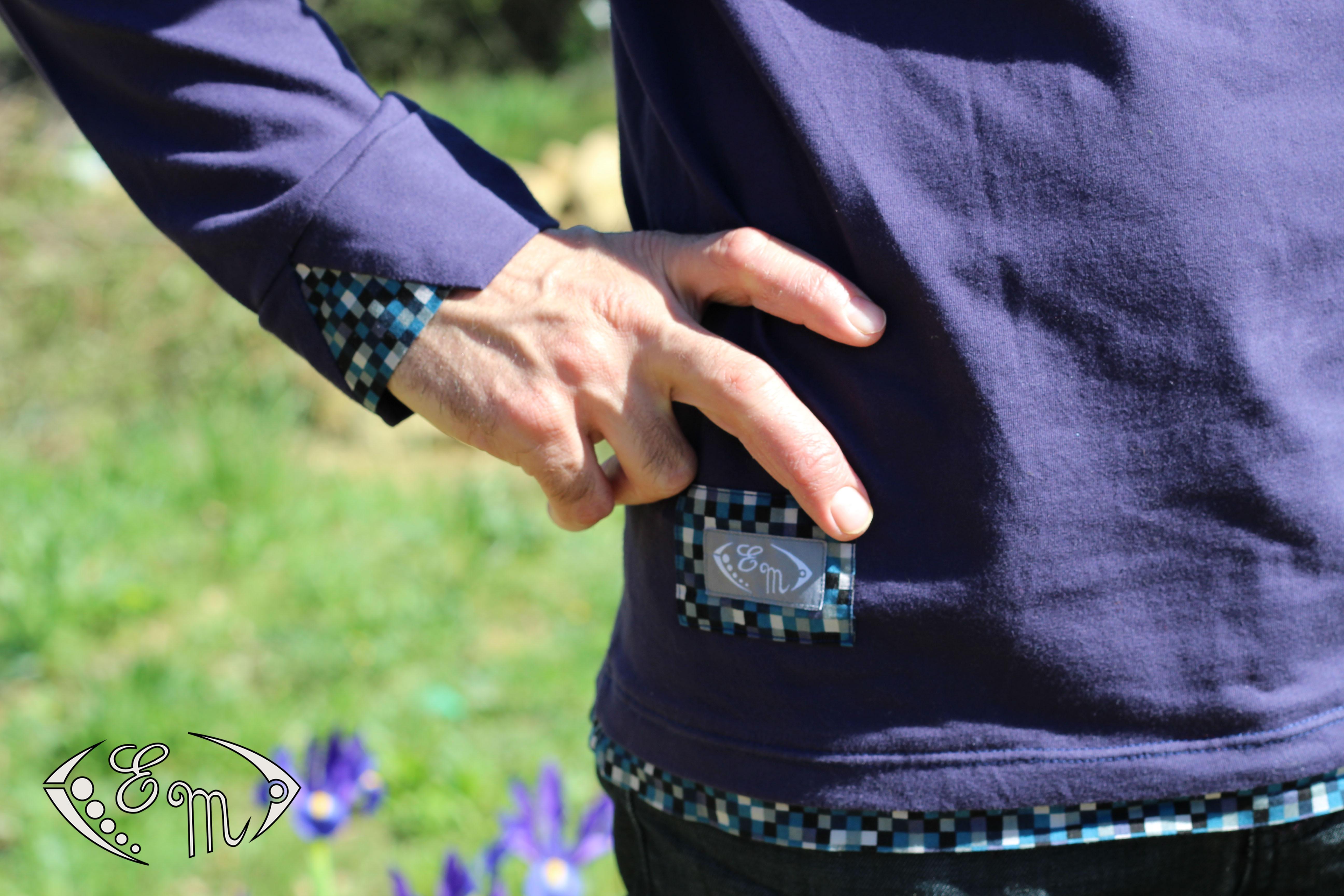 aconit sous pull col plis jersey patron homme couture