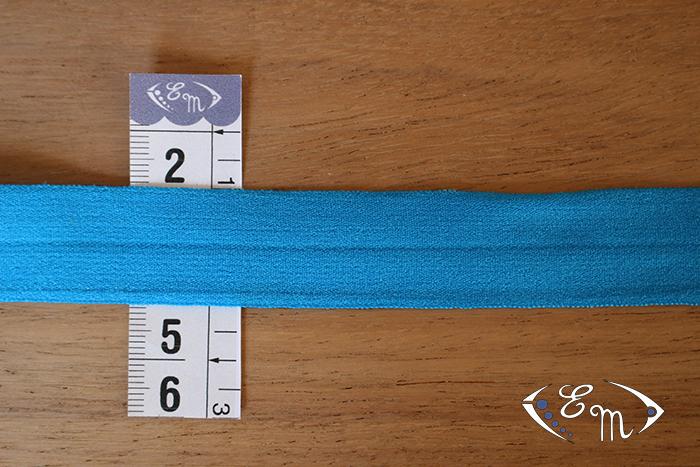 Biais élastique turquoise